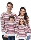 Akalnny Damen Pullover mit Norweger-Muster Norwegerpulli Weihnachtspullover Strickpullover...