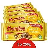 Marabou apelsin krokant Schokolade 5 x 250 g – zartschmelzende Milchschokolade mit...