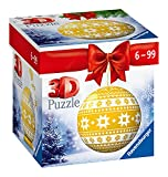 Ravensburger 3D Puzzle-Ball Weihnachtskugel Norweger Muster 11269 - 54 Teile - für...