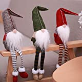 Weihnachtsdeko Plüsch Wichtel Figuren Santa Kantenhocker Weihnachtswichtel Handgemachte...