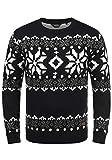 !Solid Norwig Herren Weihnachtspullover Norweger-Pullover Winter Strickpullover Grobstrick...