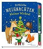 Fröhliche Weihnachten, kleiner Wichtel: Pappbilderbuch mit Zauberstab für Kinder ab 3...