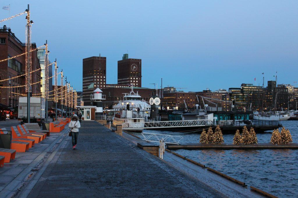 Julenissen in Norwegen: Selbstverständlich auch in der Hauptstadt Oslo.